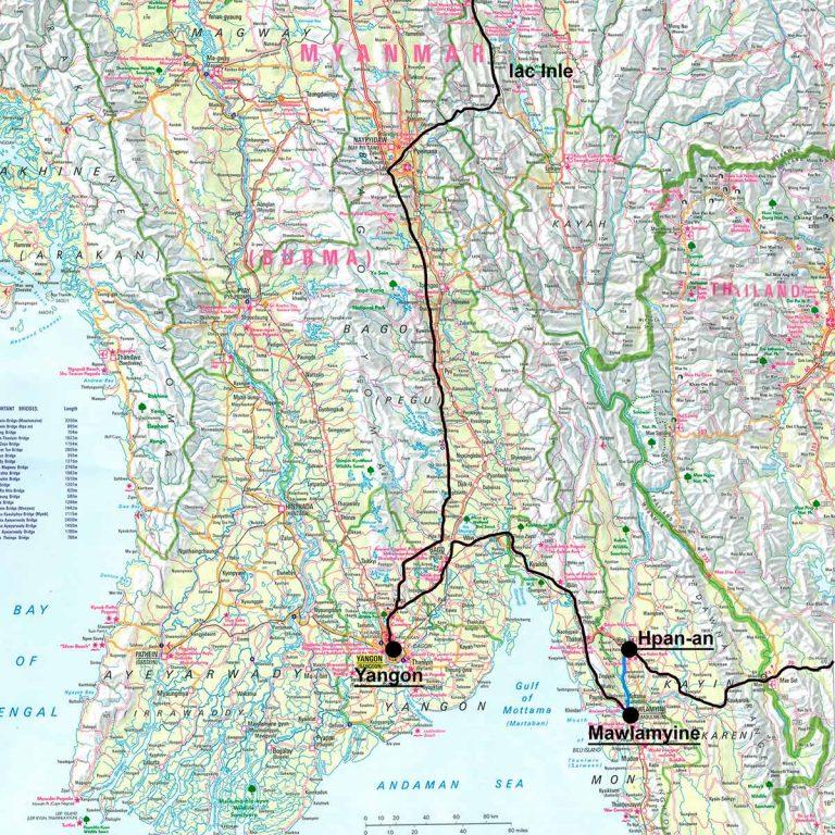 carte Birmanie sud