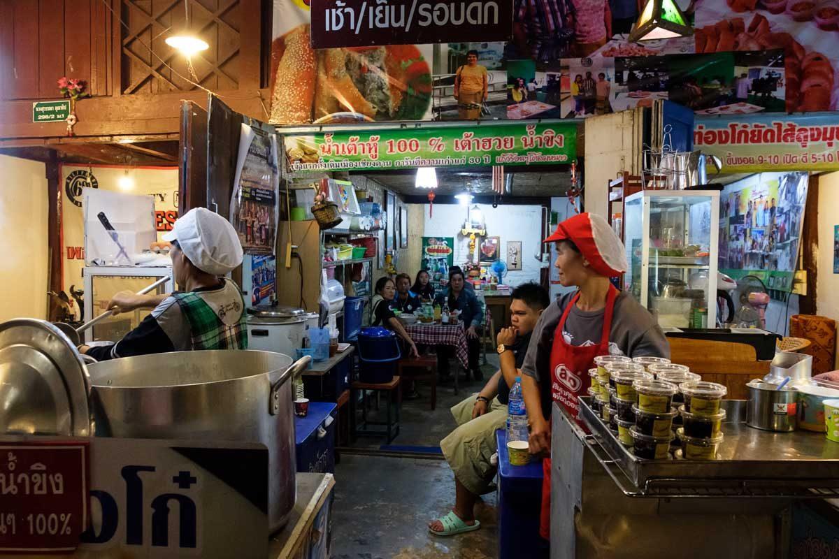 Thailande, Chiang Khan, un restaurant
