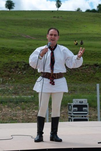 Roumanie, Rupea, chanteur