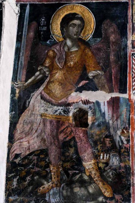 Grèce, golfe Ambracique, Arta, fresque de l'église Theodora