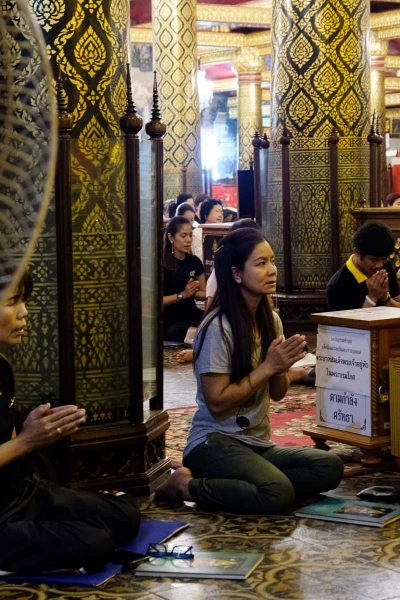 Dans le Wat Phra Si Ratana Mahathat