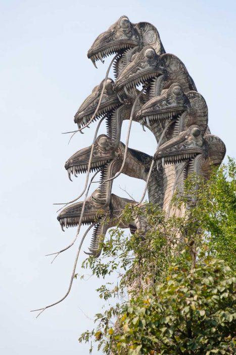 Thailande, Nong Khai, au Wat Khaek « Sala Keoku », les serpents
