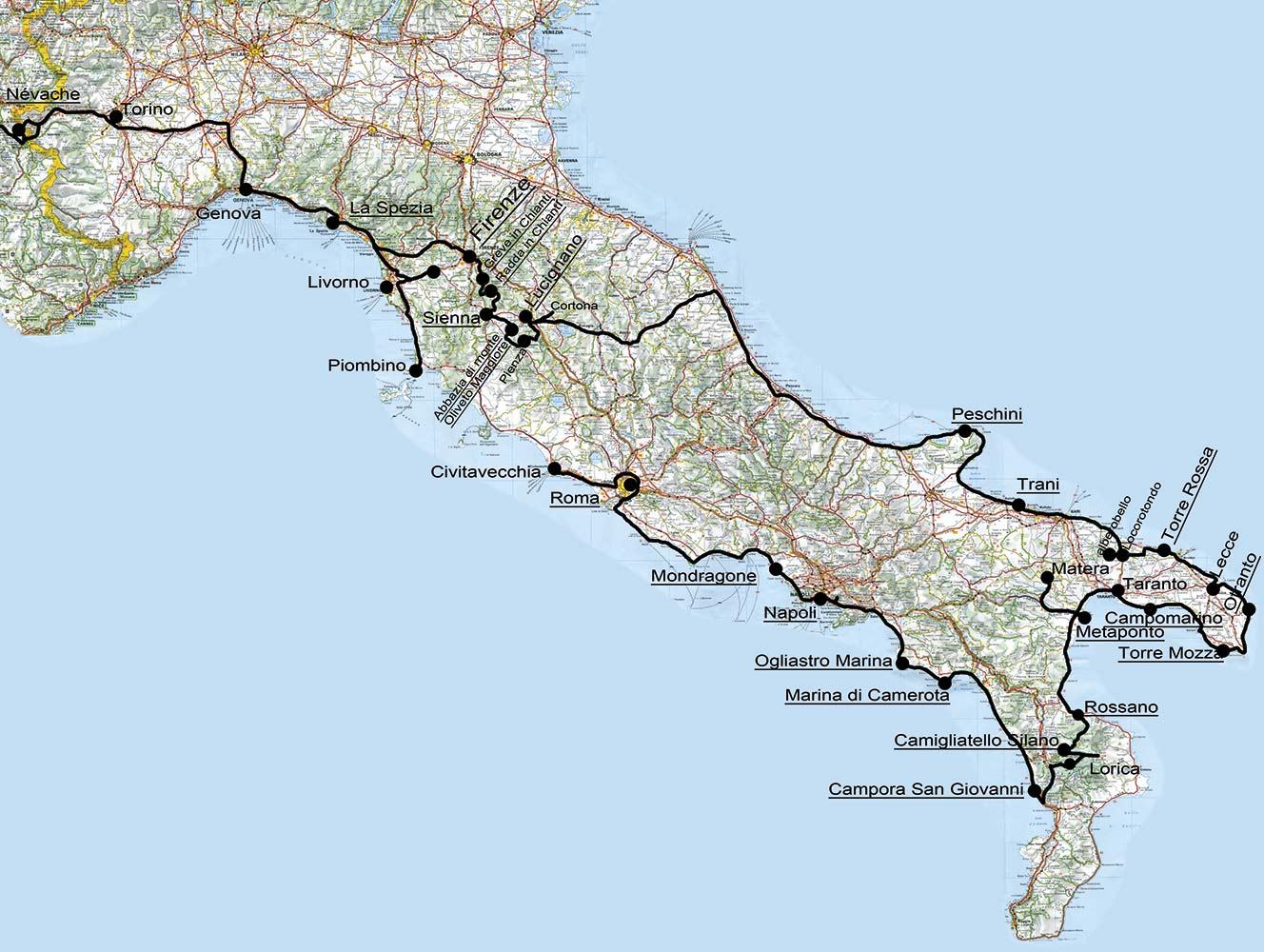 carte italie-2011
