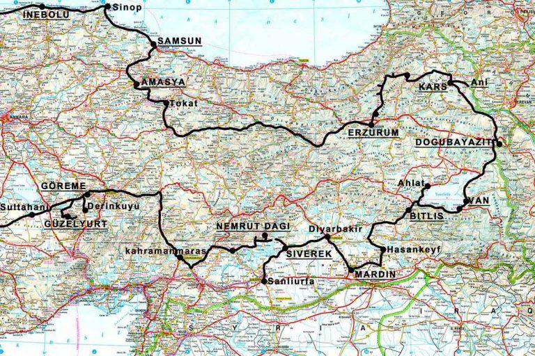 carte turquie-est