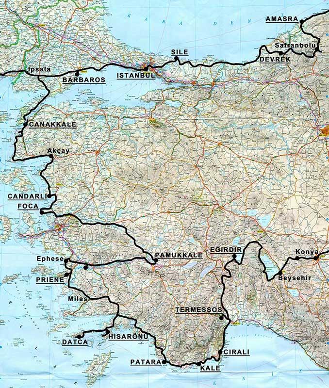 carte turquie-ouest