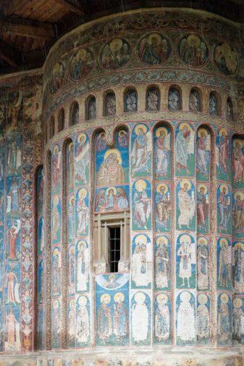 Roumanie, Bucovine, Monastère du Voronet, fresques extérieures