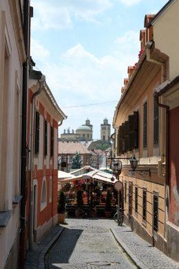 Une rue d'Eger