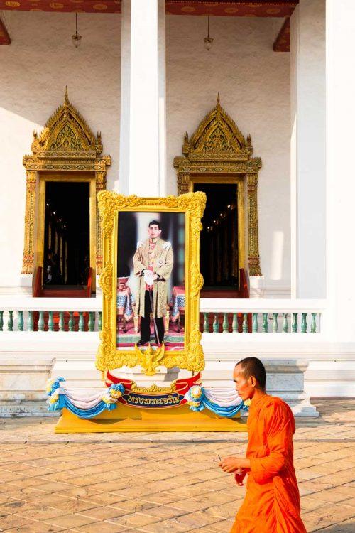 Thailande, Bangkok, portrait du nouveau roi