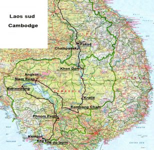 carte laos-cambodge